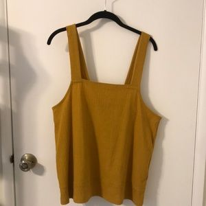 Madewell Marigold Square Neck Crop Top
